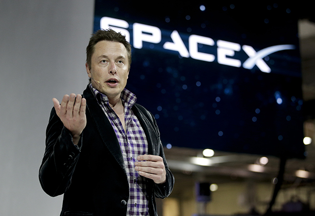 Na snímke Elon Musk