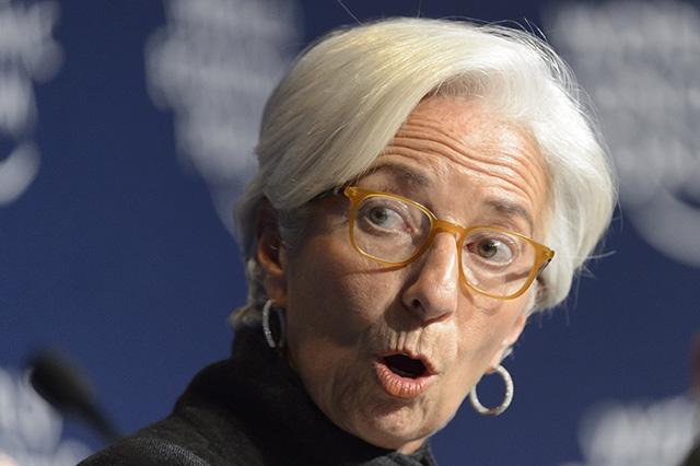 Na snímke generálna riaditeľka Medzinárodného menového fondu (MMF) Christine Lagardeová