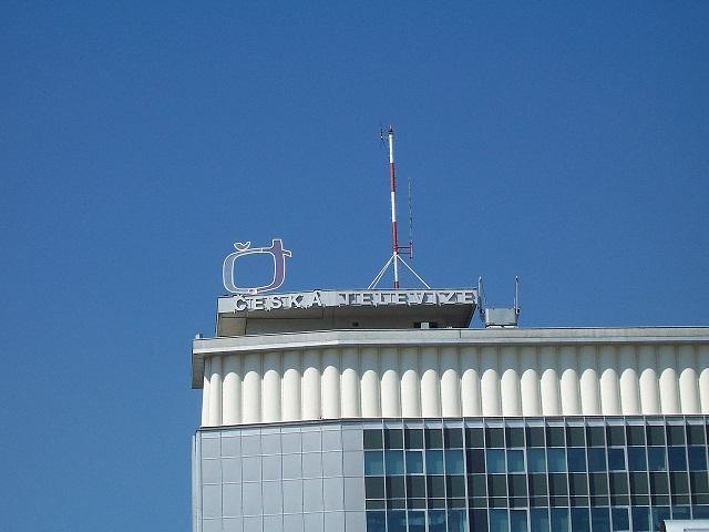 Detail výškovej budovy Českej televízie v Prahe