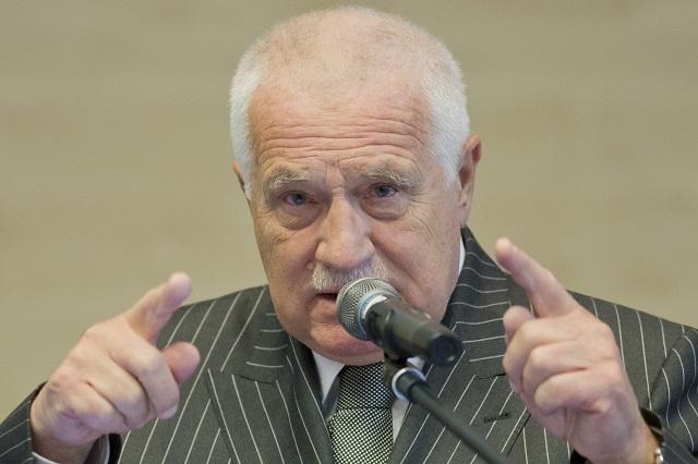 Na snímke Václav Klaus