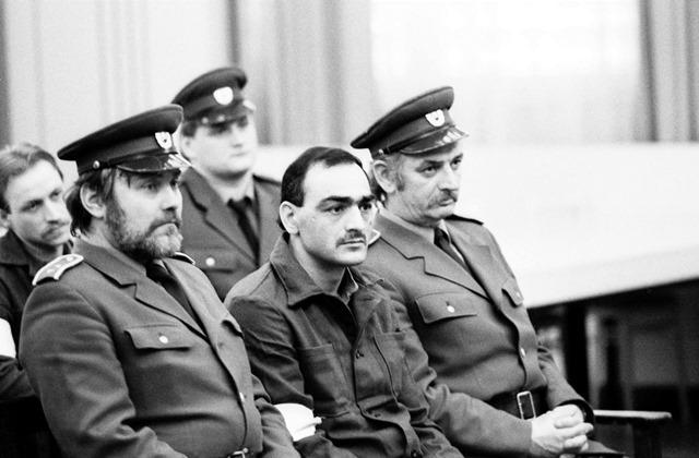Na snímke obvinený Tibor Polgári počas súdneho procesu