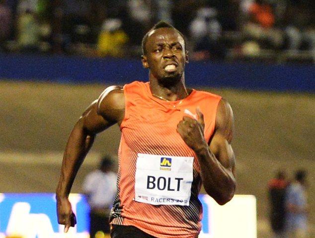 Na snímke jamajský šprintér Usain Bolt
