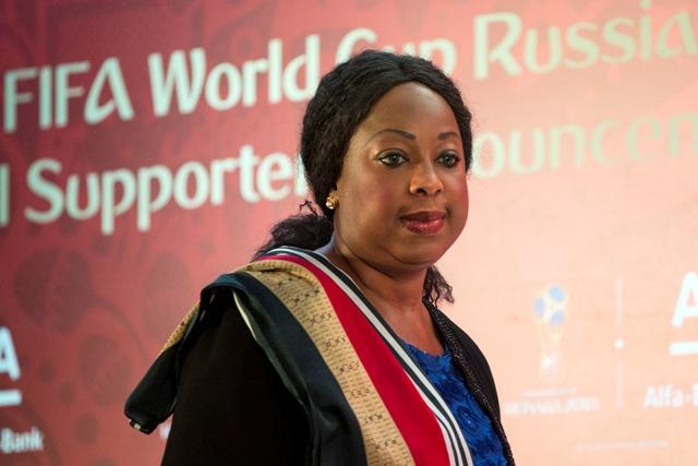 Na snímke generálna sekretárka  Medzinárodnej futbalovej federácie (FIFA) Fatma Samourová