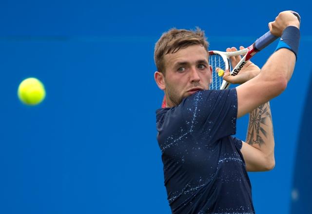 Na snímke britský tenista Daniel Evans