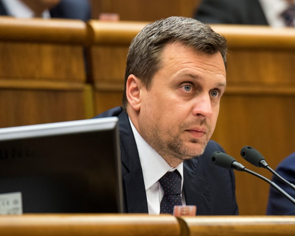 Na snímke predseda Národnej rady SR Andrej Danko (SNS)