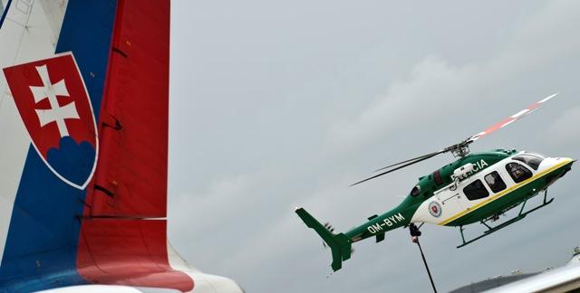 Na snímke helikoptéra letky ministerstva vnútra Bell 429