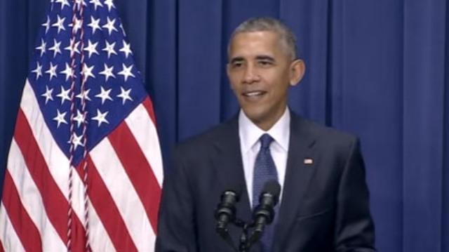 Obama vtipkoval počas svojho prejavu o streľbe v Mníchove