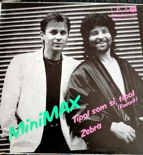Obálka platne skupiny Minimax r. 1988
