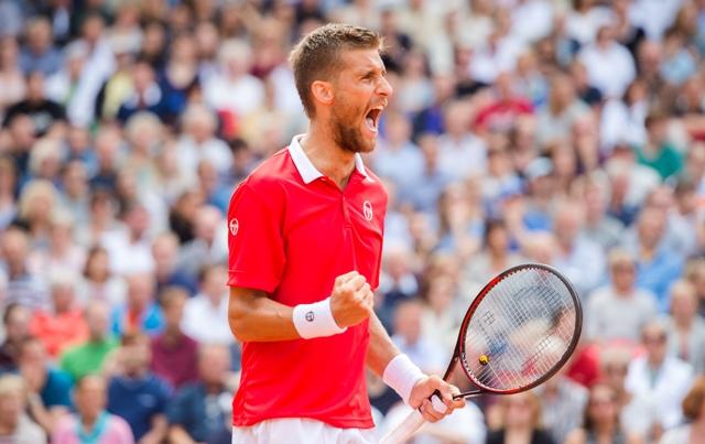 Na snímke slovenský tenista Martin Kližan