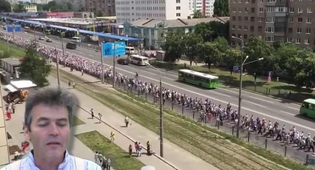 Krížový sprievod kráča Ukrajinou