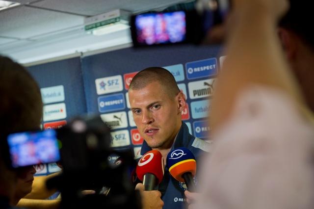 Na snímke kapitán slovenskej futbalovej reprezentácie Martin Škrtel