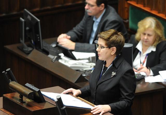 Na snímke poľská premiérka Beata Szydlová