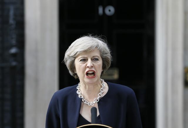 Na snímke nová britská premiérka Theresa Mayová