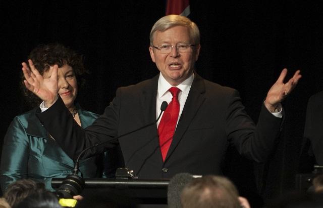 Na archívnej snímke Kevin Rudd