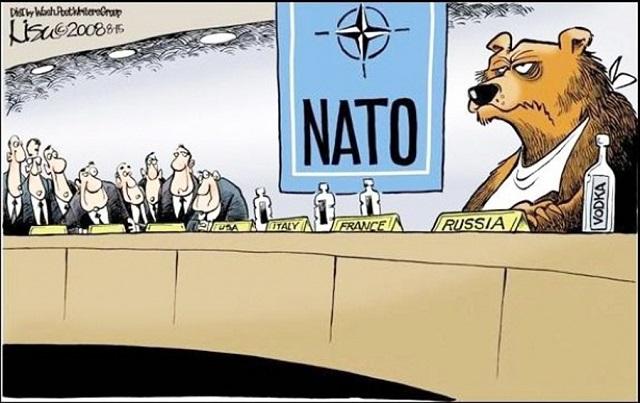Karikatúra zasadnutia summitu Rusko-NATO