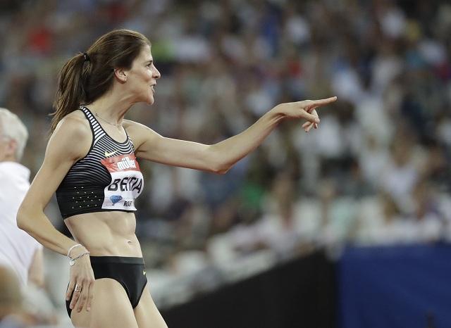 Na snímke španielska výškarka Ruth Beitiaová vyhrala súťaž v sokou do výšky žien výkonom 198 cm na mítingu Diamantovej ligy v Londýne v piatok 22. júla 2016
