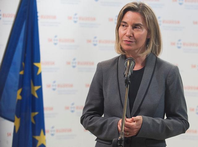 Na snímke podpredsedníčka Európskej komisie a vysoká komisárka EÚ pre zahraničnú a bezpečnostnú politiku Federica Mogheriniová