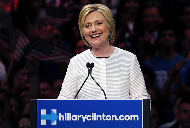 Demokratická prezidentská kandidátka Hillary Clintonová