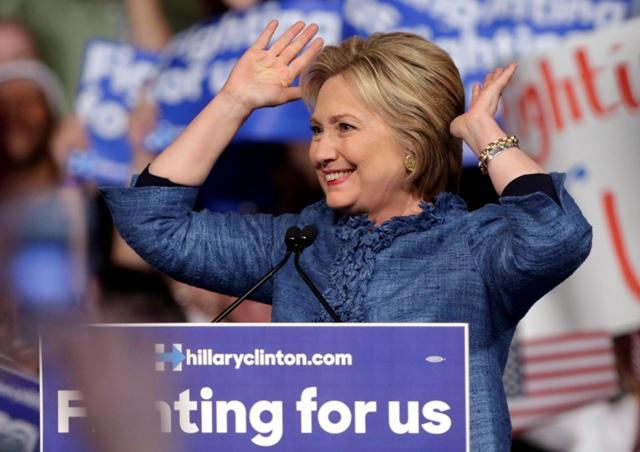 Na snímke americká demokratická prezidentská kandidátka Hillary Clintonová