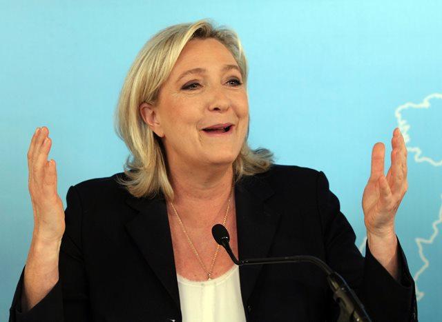 Na snímke líderka Francúzskeho národného frontu Marina Le Penová