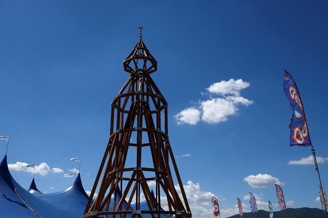 Minaret ako súčasť 20. ročníka multižánrového festivalu Pohoda na letisku v Trenčíne