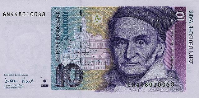 Nemecká marka v hodnote 10 DEM, ktorú si Nemci ponechali najčastejšie