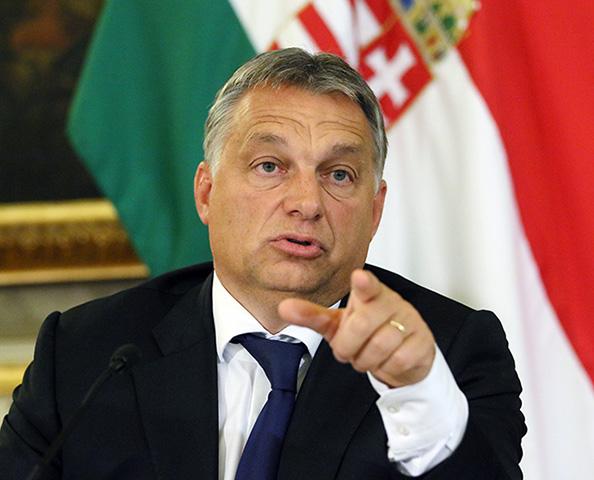 Na snímke Viktor Orbán
