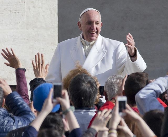 Na archívnej snímke pápež František