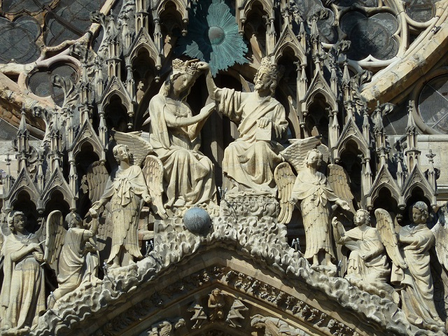 Reims cathedral porticon holy couple