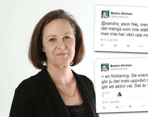 Švédska liberálna politička Barbro Sörman na svojom twitterovom účte zľahčovala sexuálne násilie páchané migrantmi