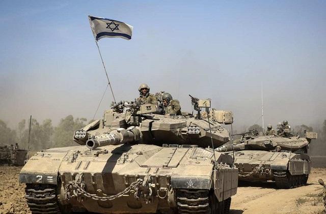 Na snímke tank Merkava