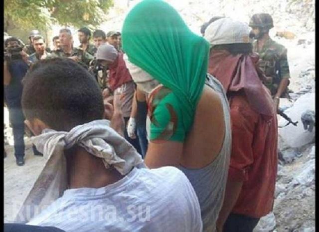 Teroristi, ktorý sa  vzdali v štvrti al Lairamun