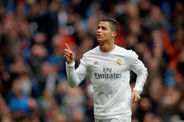 Na snímke futbalista Realu Madrid Cristiano Ronaldo