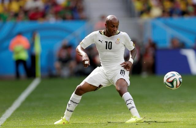 Na snímke ghanský hráč Andre Ayew