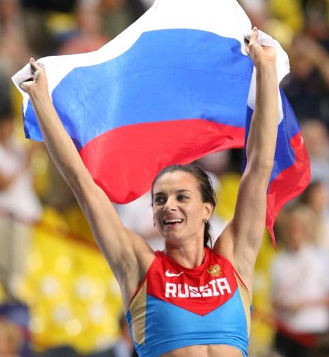Na snímke Ruska Jelena Isinbajevová