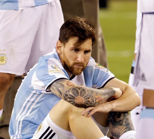 Na snímke argentínsky útočník Lionel Messi