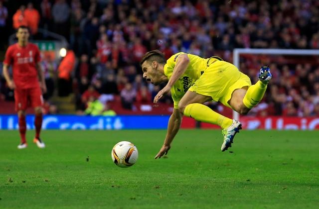 Na snímke futbalista Villarrealu Roberto Soldado
