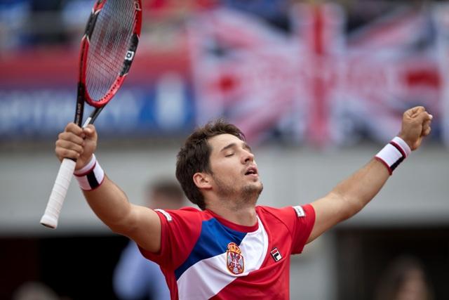 Na snímke srbský tenista Dušan Lajovič