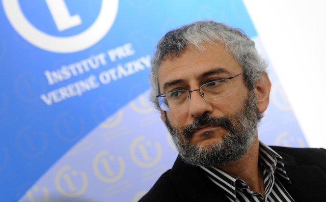 Na snímke politológ Grigorij Mesežnikov z Inštitútu pre verejné otázky