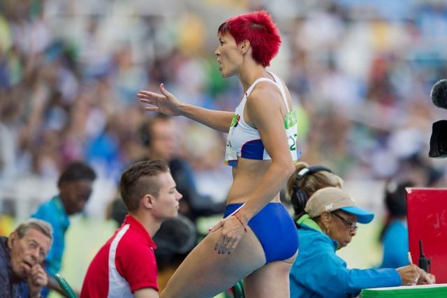Na snímke slovenská atlétka Dana Velďáková v kvalifikácii trojskoku počas  XXXI. letných olympijských hier v brazílskom Rio de Janeiro