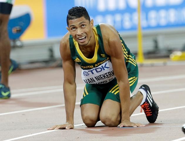 Na snímke juhoafrický bežec Wayde Van Niekerk
