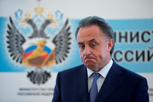 Na snímke ruský minister športu Vitalij Mutko