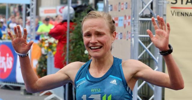 Na snímke nemecká bežkyňa Anna Hahnerová