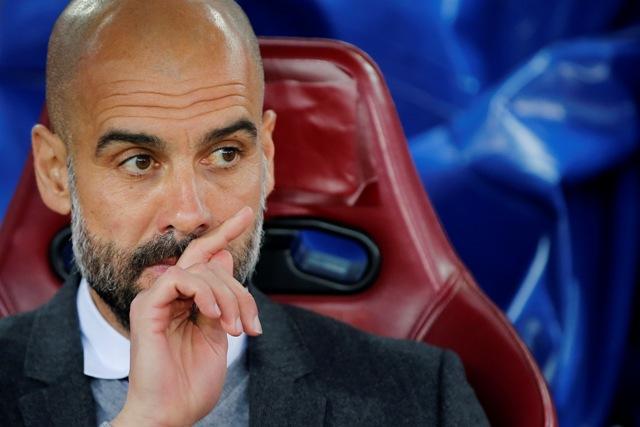 Na snímke tréner Manchestru City Pep Guardiola