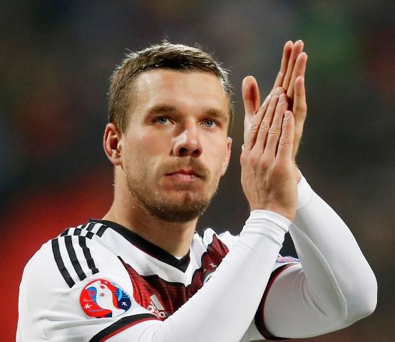 Na snímke nemecký futbalový reprezentant Lukas Podolski