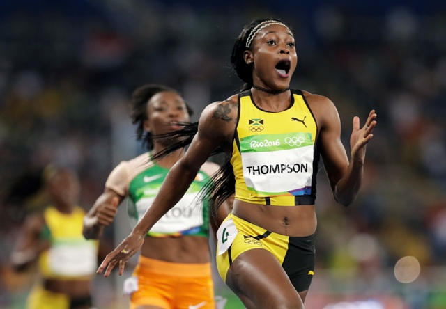 Na snímke jamajská šprintérka Elaine Thompsonová