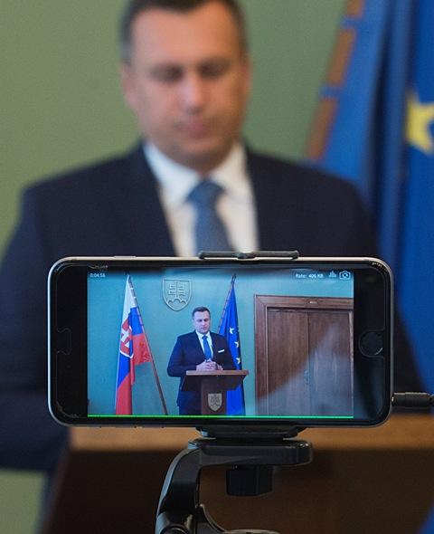 Na snímke predseda NR SR Andrej Danko počas tlačovej konferencie k zmenám rokovacieho poriadku