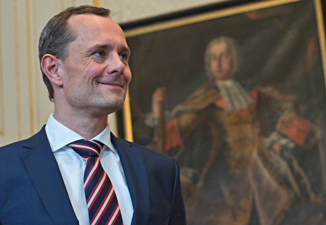 Na snímke bývalý predseda a zakladateľ vládnej strany #Sieť Radoslav Procházka