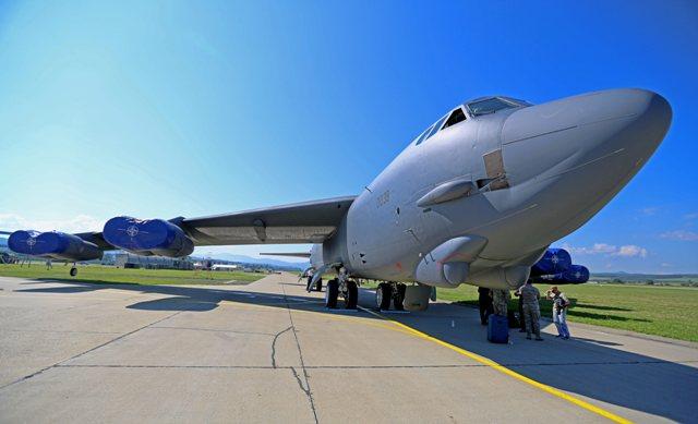 Na snímke bombardér Boeing B-52 Stratofortress amerického vojenského letectva zo základne Barksdale