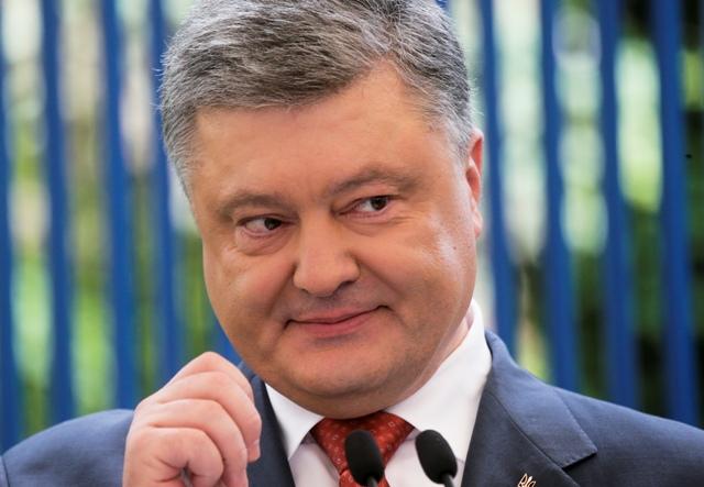 Na snímke ukrajinský prezident Petro Porošenko Foto:TASR/AP-Efrem Lukatsky